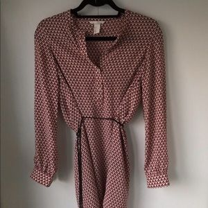 Red patterned H&M tunic dress